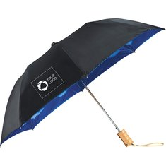 Blue Skies Auto Open Folding Umbrella