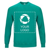 Fruit of the Loom® Classic Raglan Single Colour Print Jumper