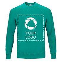 Fruit of the Loom® Classic Raglan sweatshirt med enfärgat tryck