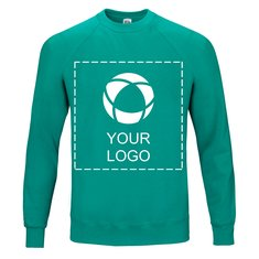 Fruit of the Loom® Classic Raglan Sweat Single Colour Print