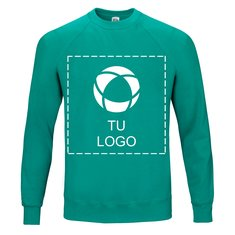 Sudadera clásica de mangas raglán de Fruit of the Loom® con estampado monocolor