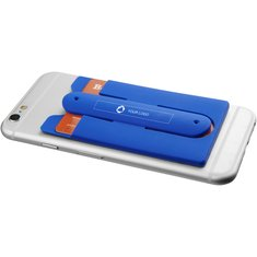 Bullet™ Wired høretelefoner og mobiltegnebog af silikone