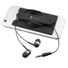 Bullet™ Wired Earbuds and Silicone Phone Wallet