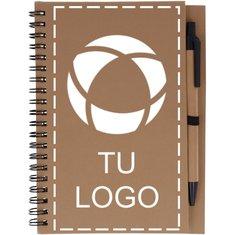 Libreta reciclada con bolígrafo Bloquero