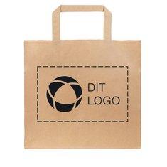 Take Away lille papirpose med flade bærehåndtag