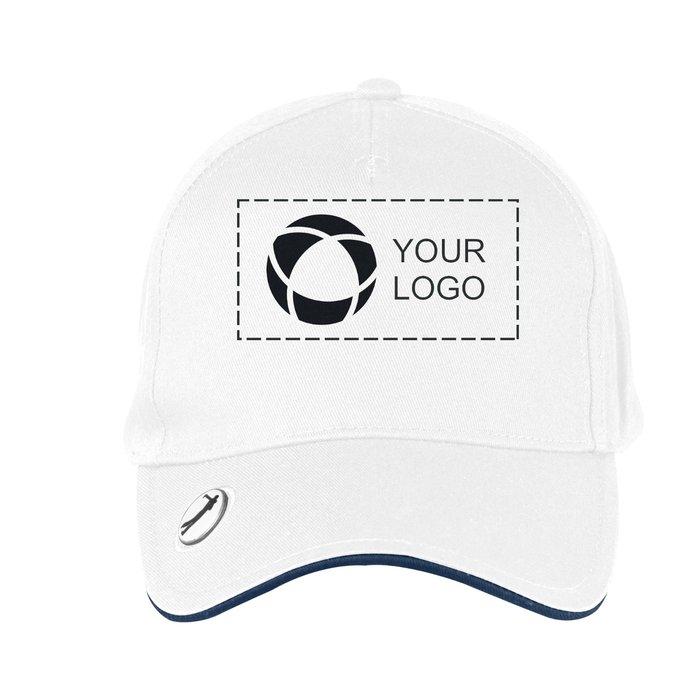 Beechfield® Pro-Style Ball-Mark Golf Cap with Single-Colour Print