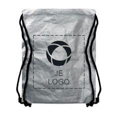 TYVEK® Zilveren Tyshoop tas met sluitkoord