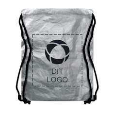 Tyvek® Tyshoop sølvfarvet taske med løbesnor