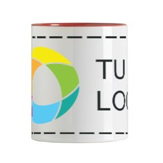 Taza de cerámica de 300 ml Sublim White con estampado a todo color
