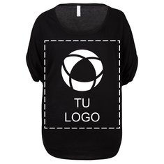 Camiseta vaporosa Circle de Bella + Canvas® para mujer