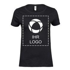 Baumwoll-T-Shirt Luxury von Tee Jays® für Damen, einfarbiger Druck