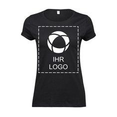 Damen-T-Shirt Roll-Up von Tee Jays®, einfarbiger Druck
