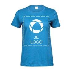 Tee Jays® Sof dames-T-shirt met drukwerk in 1 kleur
