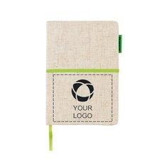 Miljövänlig A5 anteckningsbok i juteväv