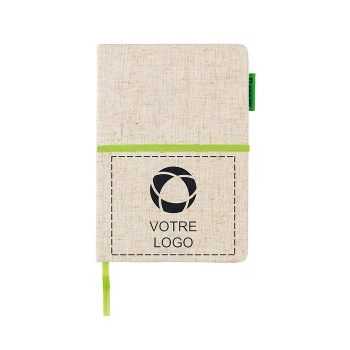 Carnet A5 coton et jute écologique