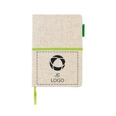 A5 ecologisch notitieboek van jute en katoen