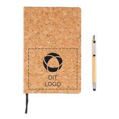 A5 notesbog med styluskuglepen af bambus