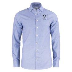 J.Harvest & Frost lilla Bow 48 herreskjorte med slank pasform enkeltfarvetryk