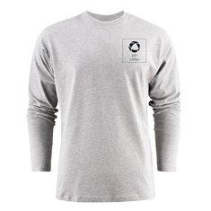 Printer Heavy T-shirt med lange ærmer