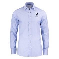 J. Harvest & Frost Purple Bow 140 Slim skjorta med enfärgat tryck
