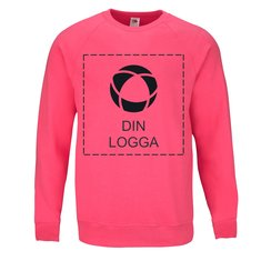 Fruit of the Loom® Lightweight Raglan sweatshirt med enfärgat tryck