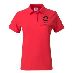 Fruit of the Loom® Lady-Fit 100% Cotton Premium Polo Screenprint