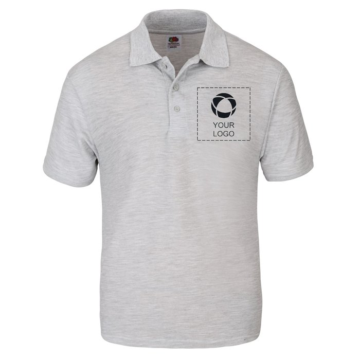 Fruit of the Loom® Men's 65/35 Single Colour Print Polo