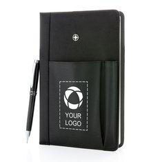 Swiss Peak® påfyllningsbar anteckningsbok med pennset