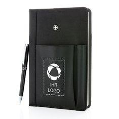 Set mit nachfüllbarem Notizbuch und Stift von Swiss Peak®