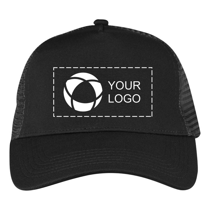 Beechfield Microknit Snapback Trucker Cap with Single-Colour Print