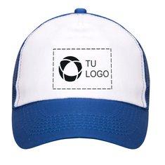 Gorra de cinco secciones Trucker de Bullet™ con estampado monocolor