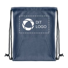 Sweatstring taske med løbesnor og lomme
