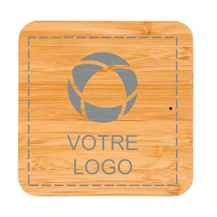 Station de recharge sans fil en bambou et tissu Leaf d'Avenue™