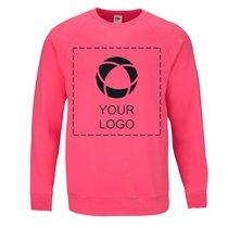 Raglan-Sweatshirt Lightweight Fruit of the Loom® mit einfarbigem Druck