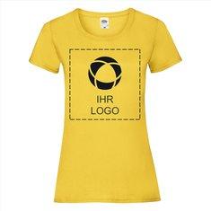 Fruit of the Loom® Valueweight Damen-T-Shirt (vollflächiger einfarbiger Druck auf Vorder- und Rückseite)