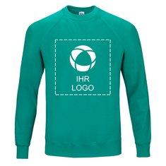 Sweatshirt Classic mit Raglanärmeln von Fruit of the Loom® mit einfarbigem Druck auf Vorder- und Rückseite