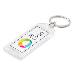 Convex Sleutelhanger met Inzet in Full-Color