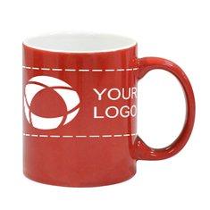 300ml Two Tone Ceramic Red Mug