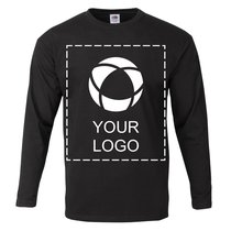 Fruit of the Loom® Single Colour Print 100% Cotton Men's Long Sleeve T-Shirt
