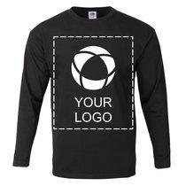 Fruit of the Loom® Langarm-T-Shirt für Herren aus 100% Baumwolle mit einfarbigem Print