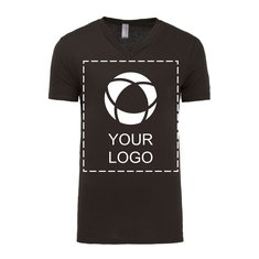 Unisex Bella + Canvas® kortærmet jersey-T-shirt med V-halsudskæring