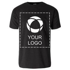 Ensfarvet Fruit of the Loom® kortærmet T-shirt med tryk til herrer i 100 % bomuld