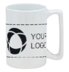380ml Macho Ceramic White Mug