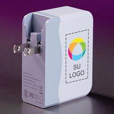 Adaptador USB a CA de 4 puertos