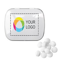 Rectangular Tin with Golf Ball Shaped Mints, Case of 48