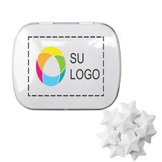 Lata rectangular de mentitas en forma de estrella, paquete de 48 latas