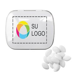 Lata rectangular de mentitas en forma de pelota de futbol, paquete de 48 latas