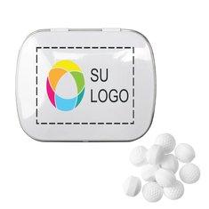 Lata rectangular de mentitas en forma de pelotas de golf, paquete de 48