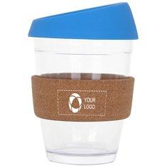 12 OZ Reusable Glass Coffee Cup with Cork Band