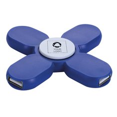 3-Port USB 2.0 Spinner Hub